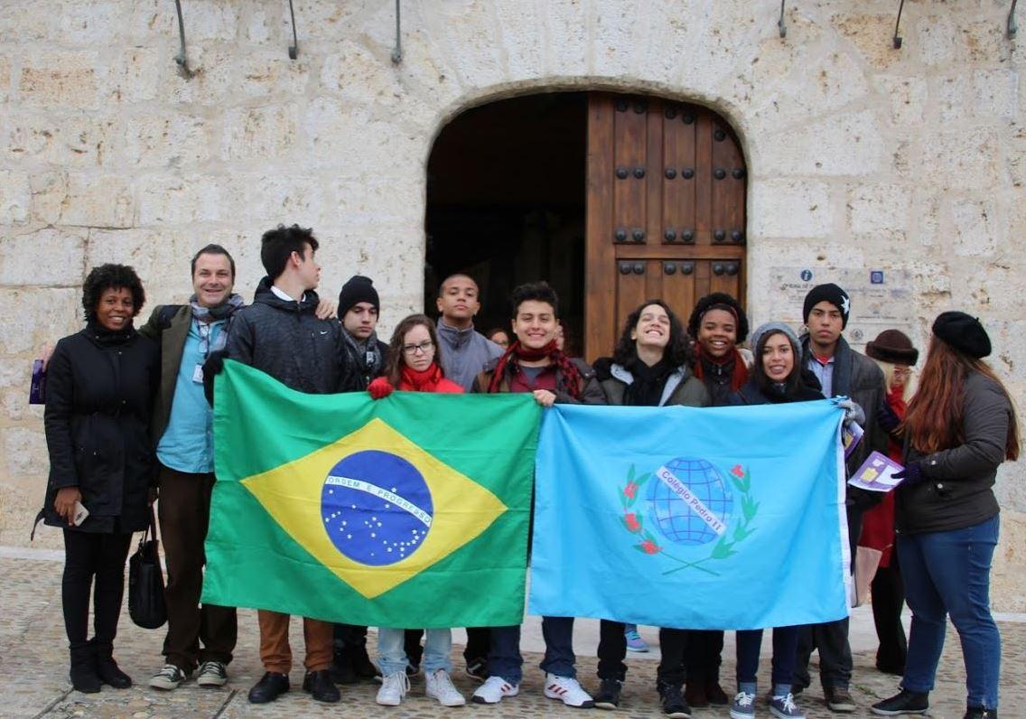 Alumnos del Colegio Pedro II de Brasil